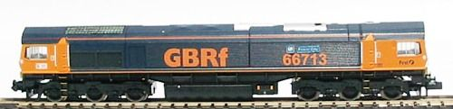 "Dapol ND042 Class 66 diesel 66713 ""Forest City"" in GBRf livery"