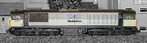 ND-103g Dapol : Class 58 Diesel Electric 58027 Triple Grey Mainline Livery