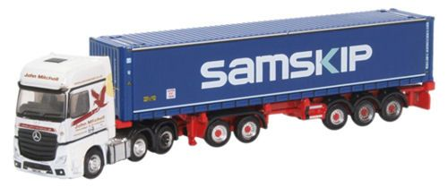Oxford Diecast NMB004 Mercedes Actros D-TEC Combitrailer Trailer John Mitchell