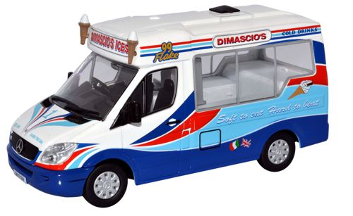 Oxford Diecast WM002 - O Scale Mercedes Ice CreamVan Dimachios