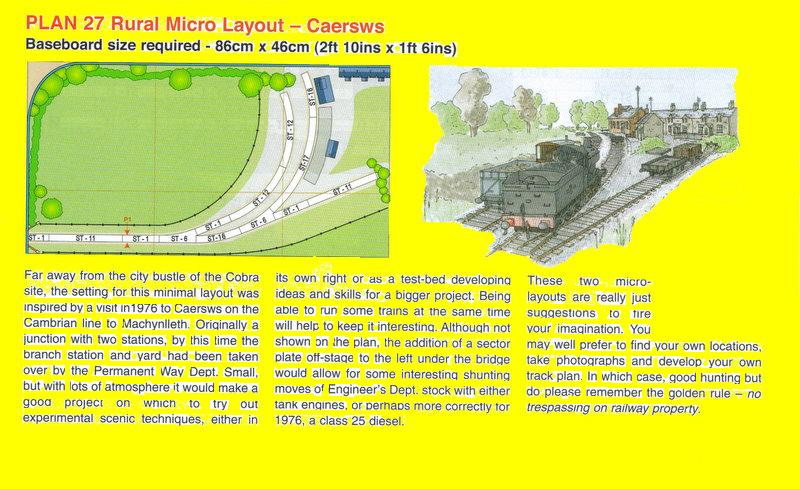 Peco new plan 027 n scale rural micro layout caersws for N scale bedroom layout