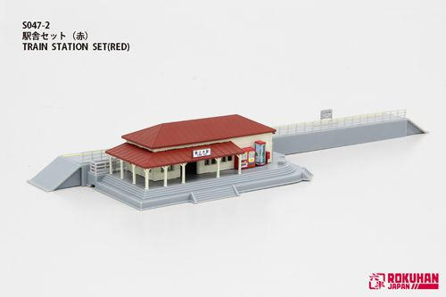 Rokuhan 7297635 Railway Station with Red Roof
