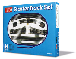 ST-300 Peco: N Scale Starter Track Set, Complete, Boxed