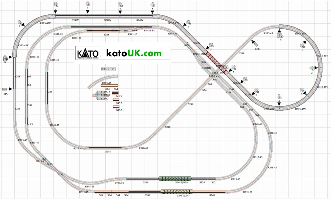 kato unitrack factory district track plan
