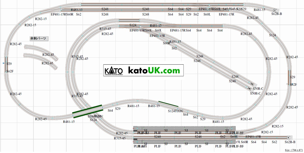 Kato n scale track list