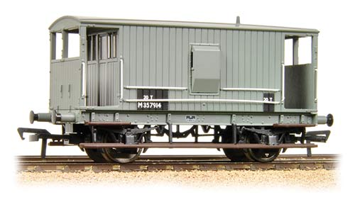 38-550A Bachmann Branchline Midland 20T Brake Van BR Grey (with Duckets)