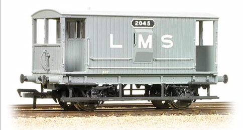 38-552 Bachmann Branchline Midland 20T Brake Van LMS Grey (with Duckets)