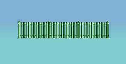 431 Ratio: TRACKSIDE ACCESSORIES  Picket Fencing, green (straight only)