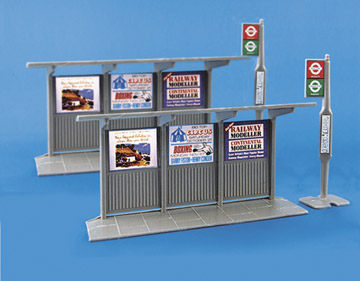5007 Modelscene: OO ACCESSORIES  Bus Stop & Shelter