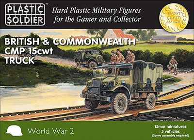 61019 Plastic Soldier Company 15mm Scale British CMP 15cwt Truck (5)