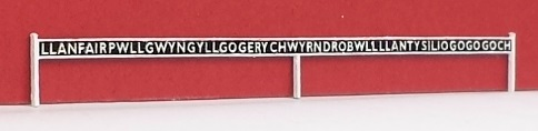 ARCHN0005  Arch Laser : Station Name Boards N Gauge (GWR type) (Pair)
