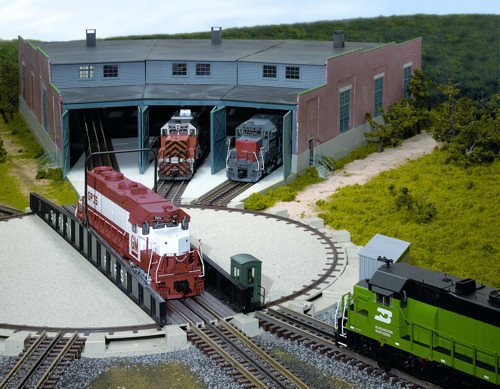 Atlas O Scale 6904 - Roundhouse Kit - 3 Stall