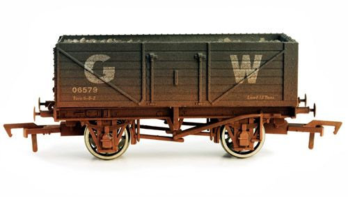 Dapol 4F-071-002 7 Plank Wagon GWR Weathered
