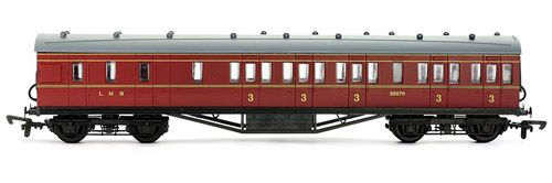 Dapol 4P-010-016 57ft Stanier non Corridor Brake 3rd LMS Maroon Lined 25270