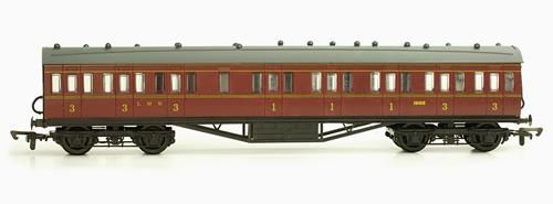 Dapol C097B 57ft Stanier Non Corridor Comp LMS Maroon Lined 19195 Kit