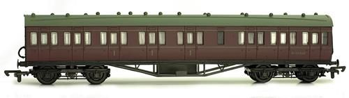 Dapol C099D 57ft Stanier Non Corridor Comp. BR Lined Maroon (Kit)