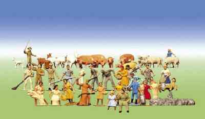 Faller 153004  Set of Farm Figures & Animals (36)