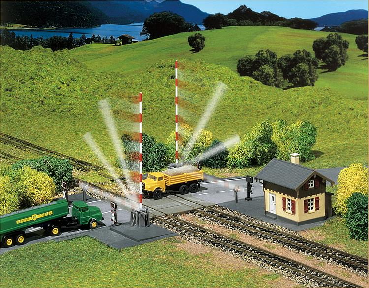 Faller 222169 N Scale Protected Level Crossing