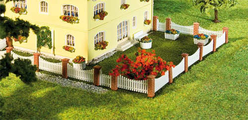 Faller 272409 N Scale Front Garden Fencing