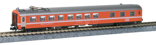 Kato (by Lemke) K23300 - N Scale SBB RIC Dining Coach Orange