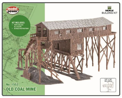 Model Power 1552 Old Coal Mine Building Kit