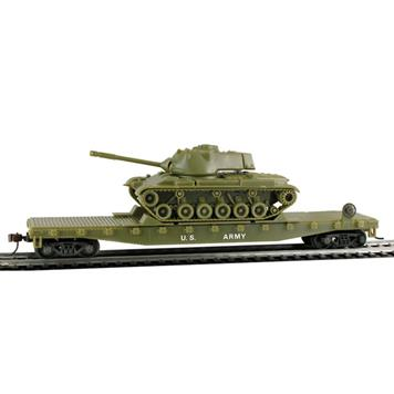 Model Power 99160 US Army 50' Warflat with Patton Tank