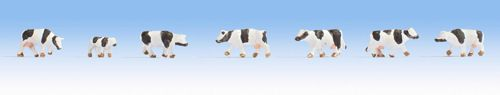 Noch 44250 Black & White Cows Figure Set (7)