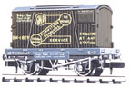 NR-20 Peco: (CONFLAT WAGONS WITH CONTAINERS ) Furniture Removals, GWR