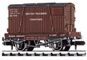 NR-22 Peco: (CONFLAT WAGONS WITH CONTAINERS ) Furniture Removals. BR