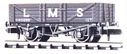 NR-40M Peco: (RAILWAY COMPANY SERIES 10 FT WHEELBASE ) Mineral, 5 plank LMS, light grey