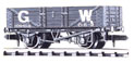 NR-40W Peco: (RAILWAY COMPANY SERIES 10 FT WHEELBASE ) mineral, 5 plank GW, dark grey