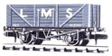 NR-41M Peco: (RAILWAY COMPANY SERIES 10 FT WHEELBASE ) Coal, 7 plank LMS, light grey