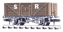 NR-41S Peco: (RAILWAY COMPANY SERIES 10 FT WHEELBASE ) Coal, 7 plank SR, brown