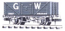 NR-41W Peco: (RAILWAY COMPANY SERIES 10 FT WHEELBASE ) Coal, 7 plank GW, dark grey