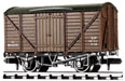 NR-43B Peco: (RAILWAY COMPANY SERIES 10 FT WHEELBASE ) Box Van, Standard type, BR, brown