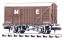 NR-43E Peco: (RAILWAY COMPANY SERIES 10 FT WHEELBASE ) Box Van, Standard type, NE, brown