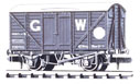 NR-43W Peco: (RAILWAY COMPANY SERIES 10 FT WHEELBASE ) Box Van, Standard type, GW, dark grey