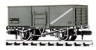 NR-44B Peco: (RAILWAY COMPANY SERIES 10 FT WHEELBASE ) Coal, Butterley Steel type, BR, mid grey