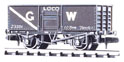 NR-44W Peco: (RAILWAY COMPANY SERIES 10 FT WHEELBASE ) Coal, Butterley Steel type, GW, dark grey