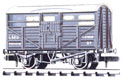 NR-45M Peco: (RAILWAY COMPANY SERIES 10 FT WHEELBASE ) Cattle Truck, LMS, light grey