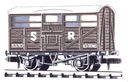 NR-45S Peco: (RAILWAY COMPANY SERIES 10 FT WHEELBASE ) Cattle Truck, SR, dark brown
