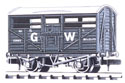 NR-45W Peco: (RAILWAY COMPANY SERIES 10 FT WHEELBASE ) Cattle Truck, GW, dark grey