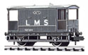 NR-48M Peco: (RAILWAY COMPANY SERIES 10 FT WHEELBASE ) Brake Van, LMS, light grey