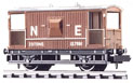 NR-49E Peco: (RAILWAY COMPANY SERIES 10 FT WHEELBASE ) Brake Van, NE, bauxite