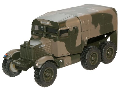Oxford Diecast 76SP004  Scammell Pioneer Royal Artillery Tractor 1st Army