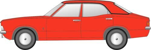 Oxford Diecast NCOR3003 Ford Cortina MkIII Sebring Red