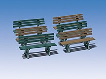 Pola 330979  Six Benches 3 x Green 3 x Brown