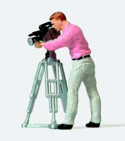 Preiser 28086 - HO Scale Camera Man