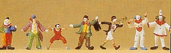Preiser 79700  N Scale Clowns (7)