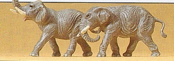 Preiser 79710  N Scale Elephants (2)